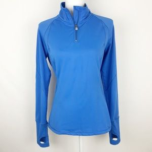 Alo Yoga Blue Athletic Sweatshirt Long Sleeve Top